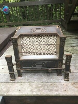 Antique PARAGON No.201-10 Gas Radiant Ceramic Heater Vintage fireplace Unit