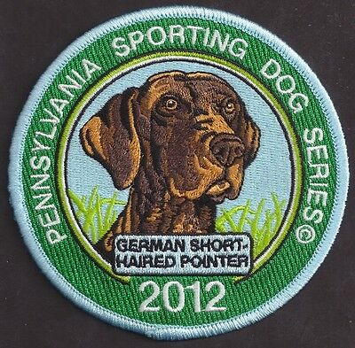 """Pa Fish Game Commission Sporting Dog 4"""" 2012 German Short Haired Pointer Patch"""