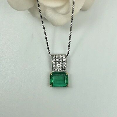 Certificated Natural Colombia Emerald 1.71ct