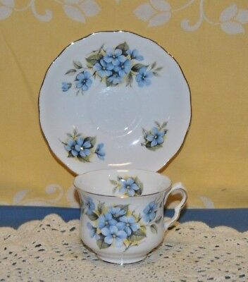 Beautiful Vintage Queen Anne, Fine Bone China, Tea Cup And Saucer