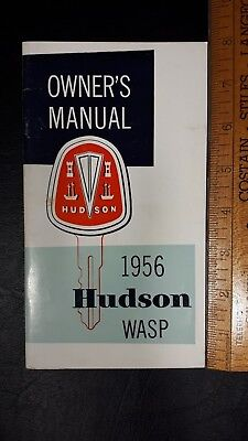 "1956 HUDSON ""Wasp"" - Original Owner's Manual Guide - Very Good Condition - (US)"