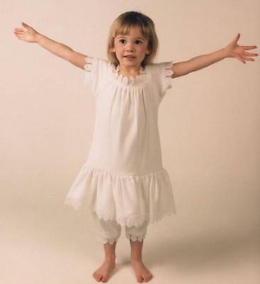 Baby Girl White Dress and Bloomer Vintage-Style Organic Cotton Lace Gift Set