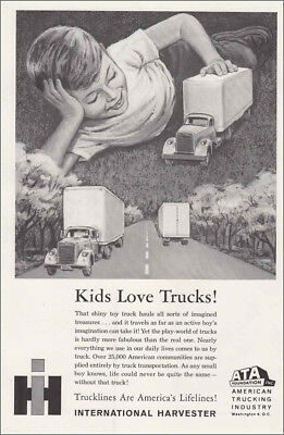 1961 International Harvester: Kids Love Trucks! Vintage Print Ad