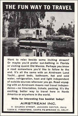 1961 Airstream: The Fun Way to Travel Vintage Print Ad
