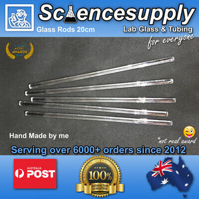 Glass stirring rod x5 AUSTRALIA AU chemsitry laboratory science