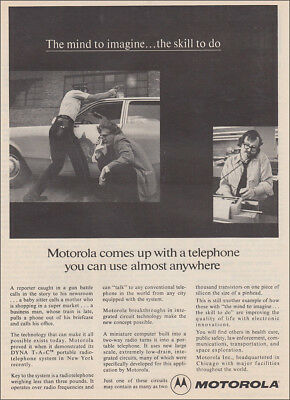 1973 Motorola: Telephone You Can Use Almost Anywhere Vintage Print Ad