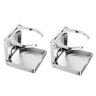 Silver Cup Holder for Car Boat Foosball Table Kayak High Quality 2PCS Practical