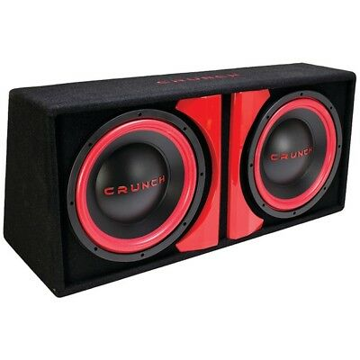"""CRUNCH CR212A CR-212A Powered Dual 12"""" Subwoofer System"""