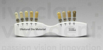 2Set Dental IPS Natural Die Material Shade Guide Ivoclar Vivadent ND1-9 Abutment