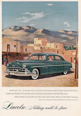 1950 Lincoln: For the Open Road the Carefree Heart Vintage Print Ad
