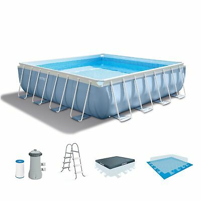 519a05bfa66 INTEX ABOVE GROUND Swimming Pool Ladder Steel Frame 4 Resin Steps up ...