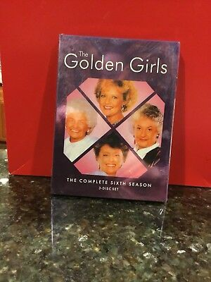 NEW The Golden Girls The Complete 6th Season (DVD, 3-Disc/Deluxe Outer Sleeve)