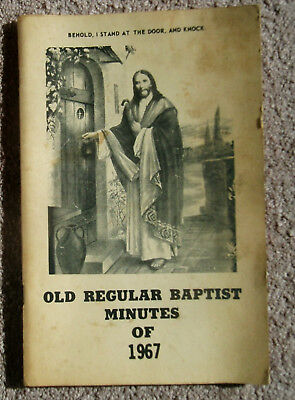 Minutes Of The 75th Annual Session – Sardis Assoc Of Old Regular Baptist - 1967
