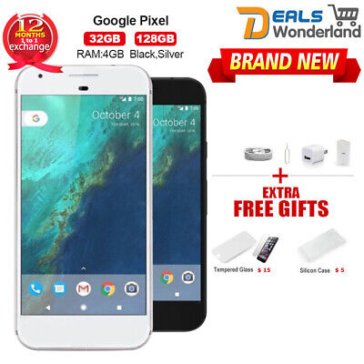New Google Pixel Pixel XL/2XL Black Silver Smartphone 1Yr Wty in Sealed Box