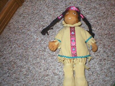 """Vintage Indian Doll Native American About 10"""" Tall"""
