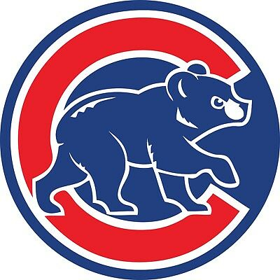 Chicago Cubs MLB Color Die Cut Vinyl Decal Sticker - You Choose Size