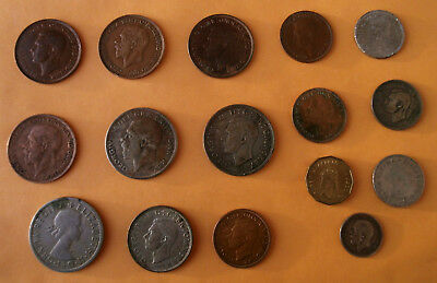 17 English Coins Minted 1918-1982