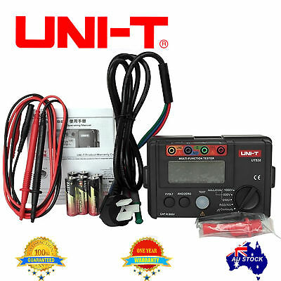 UT526 EARTH INSULATION RCD Resistance Electrical TESTER METER OZ
