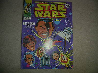 Star Wars Weekly Comic - No 44 - UK Marvel Comic, Dec 6th 1978 vgc