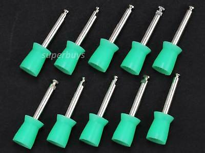 10pcs Green Disposable Prophy Webbed Cups Dental Rubber Polisher Polishing Tool