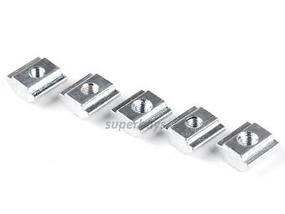 5pcs M3 Sliding T-Nut V-Slot Block 20 Series EU20 European Standard Steel Block