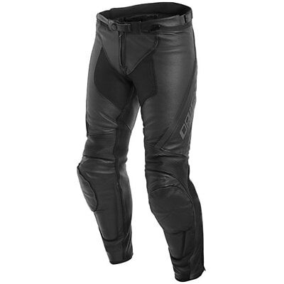 Dainese Motorbike Motorcycle Assen Perforated Leather Jeans Black / Anthracite