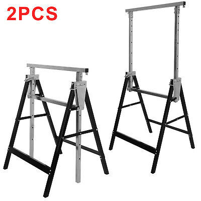NEW 2x Telescopic Builders Trestle Work Bench Carpenter Folding Saw Horse Tools
