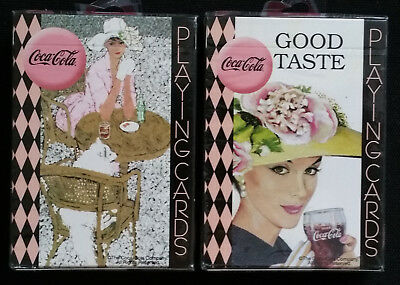 2 DECKS Set Coca Cola Ladies Vintage Style Playing Cards by Bicycle New & Sealed