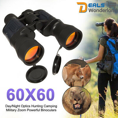 60x60 Day/Night Optics Hunting Camping Military Zoom Powerful Binoculars