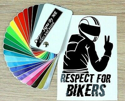 Respect For Bikers Sticker Vinyl Decal Adhesive Car Window Bumper Tailgate BLACK