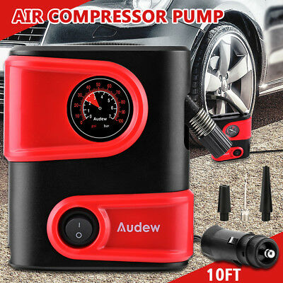 AUDEW 12V DC 150PSI Electric Portable Car AUTO Tyre Inflator Air Compressor Pump