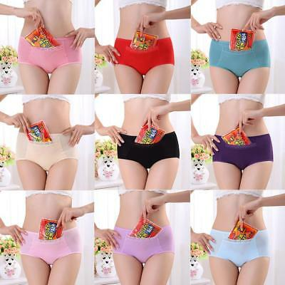Women Leakproof Brief Menstrual Period Underwear Cotton Blend Panties Briefs QA