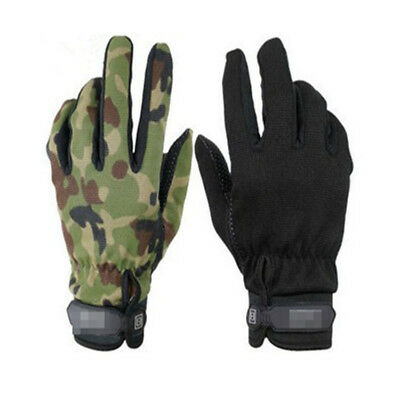 1 pair quick-drying fabric Outdoor Sport Soft Nylon Tactical Full Finger Gloves