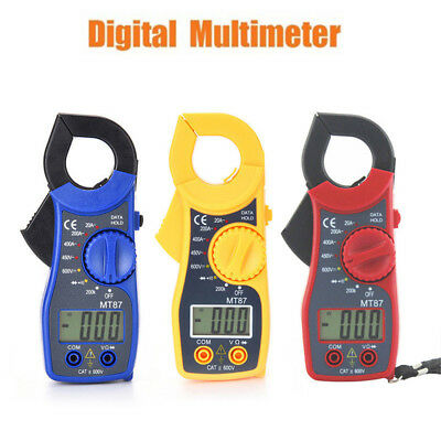 Multimetro digitale a pinza AC DC Voltmetro Ohmmetro Volt Tester LCD Meter