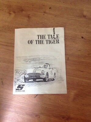 "Vintage 1964 - 66 Sunbeam Tiger Company Brochure - ""THE TALE OF THE TIGER"""