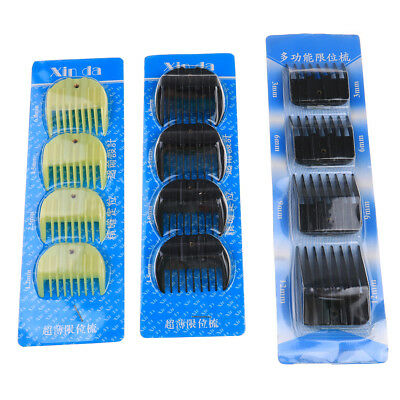 4Pcs Universal Hair Clipper Limit Comb Guide Attachment Size Barber Replacement!