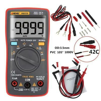 AN8008 True-RMS LCD Digital Multimeter 9999 Count Square Wave Voltage Ammeter TR
