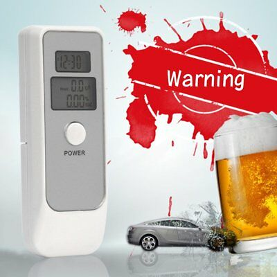 Portable Digital Alcohol Breathalyser Breath Tester Breathtester w/ Dual LCD KT
