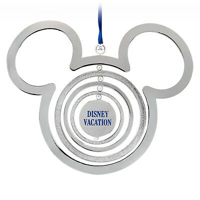 Walt Disney Parks Vacation Disneyland Mickey Mouse Icon Christmas Ornament NEW
