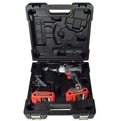 "24v 1/2"" Drive Li-on Cordless Battery Impact Wrench & 10 Deep Impact Sockets"