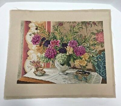 Bucilla Heirloom Collection Completed Unframed Counted Cross Stitch Picture