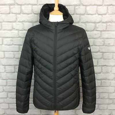 c0a53befe12b EA7 EMPORIO ARMANI Shield Logo Lightweight Down Puffer Jacket Dark ...