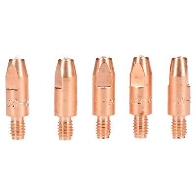 0.8mm Mig Welding Welder Round Contact Tips for MB25 MB36 Euro Torches 5pk