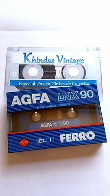 CASSETTE TAPE BLANK SEALED - 1x (one) AGFA LNX 90 [1985-86] made in Germany