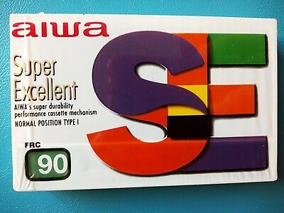 CASSETTE TAPE BLANK SEALED - 1x (one) AIWA frc 90 - made in Turkey