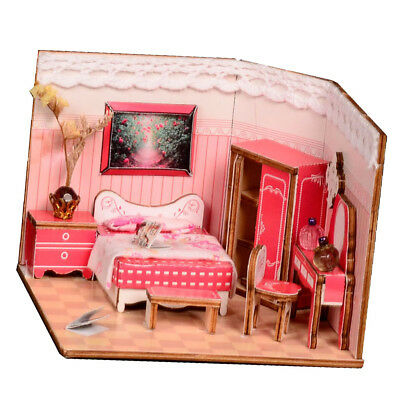 1:24 Wooden 3D Doll House Room Handcraft Miniature Project Kit Christmas Toy