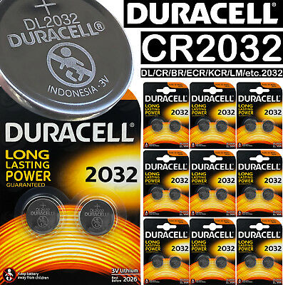 Duracell CR2032 3v LITHIUM Coin Cell Batteries 2032 LM2032 EA2032 ST-T15 battery