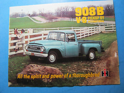 International 908B Pickup V8 Truck Sales Brochure Ih Vintage Original