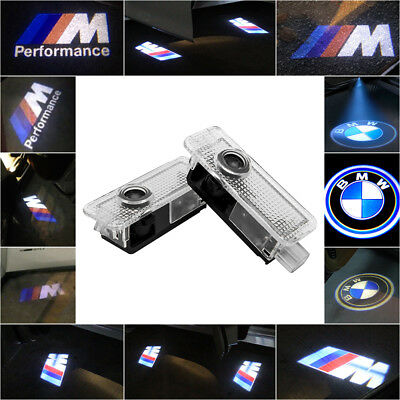 Fit BMW Cree LED Projector Car Door Lights Shadow Puddle Courtesy LOGO Lamp UK