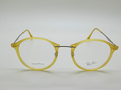 ff30cc71477 NEW Authentic Ray Ban RB 7073 5589 LightRay Matte Yellow 47mm Eyeglasses